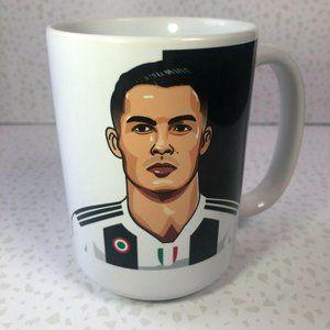NEW Cristiano Ronaldo Juventus FC White Coffee Mug